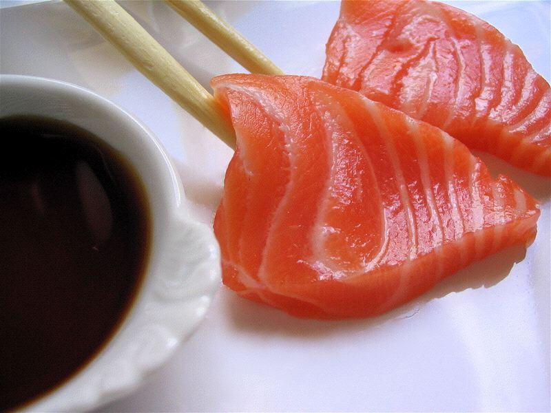 Saumon cru - Sashimi